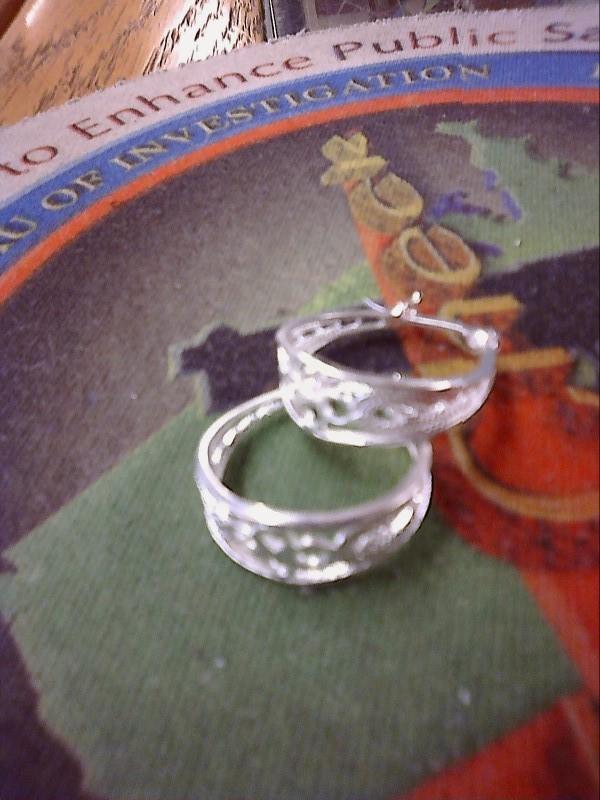 Silver Earrings Silver Plate 0.34dwt