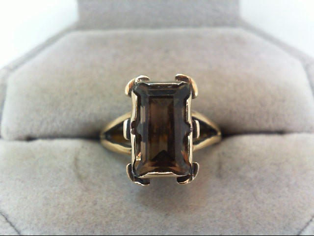 Lady's Gold Stone Ring 14K Yellow Gold 4.1g