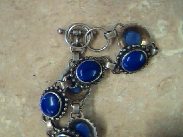 Blue Stone Silver-Stone Bracelet 925 Silver 14.7g