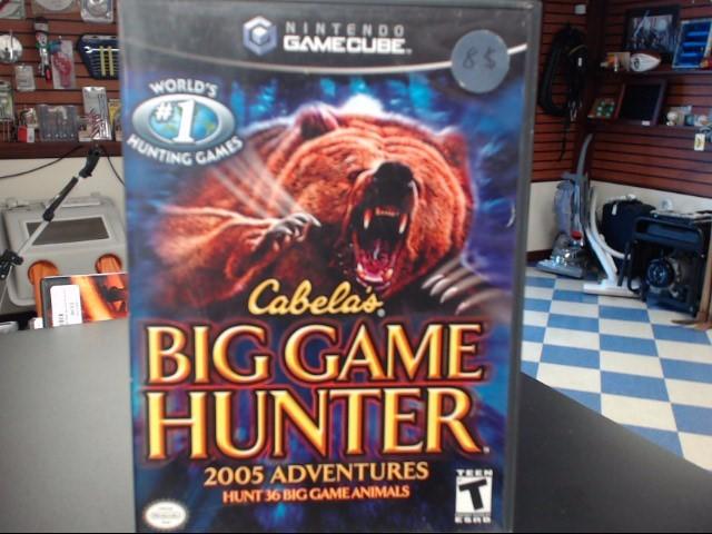 NINTENDO GAMECUBE CABELAS BIG GAME HUNTER 2005