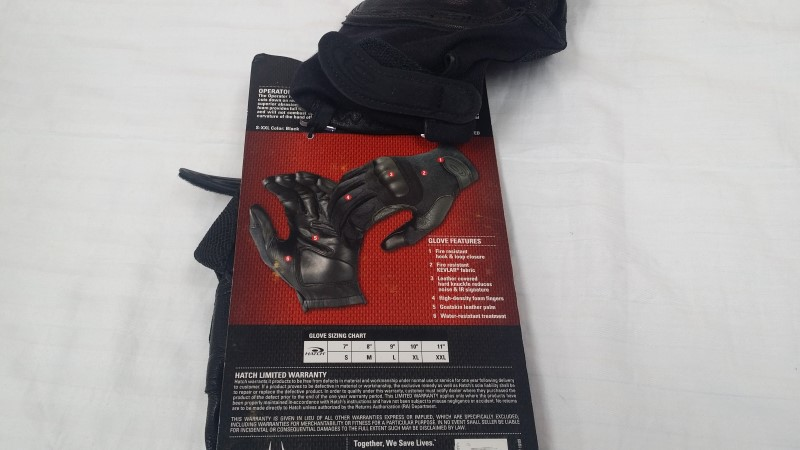 HATCH OPERATOR SOG-HK300 GLOVES WITH KEVLAR SIZE: LARGE