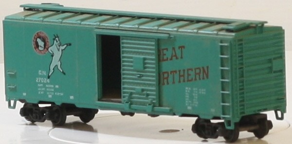 ATHERAN 1223 40 FT BOX CAR GREAT NORTHERN #27024 FREIGHT CAR HO