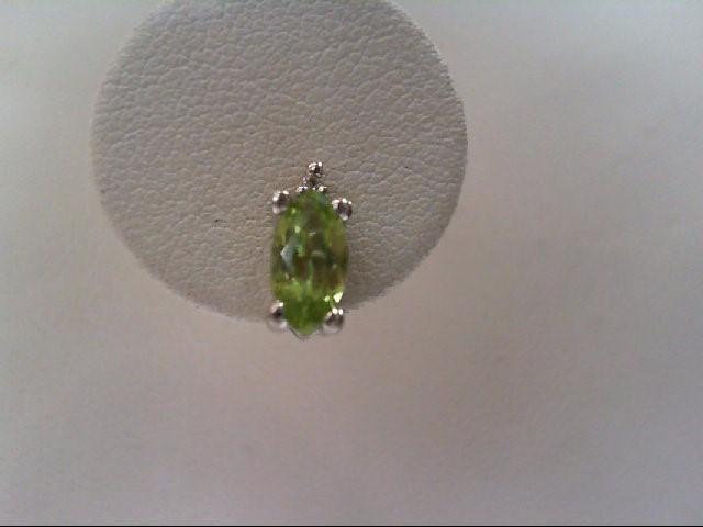 Peridot Silver-Stone Earrings 925 Silver 1.3g
