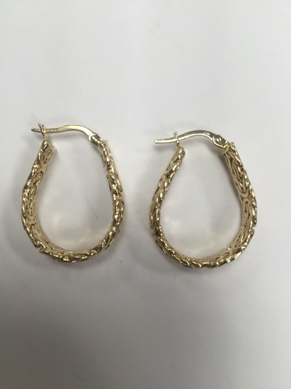 Gold Earrings 14K Yellow Gold 4.04g