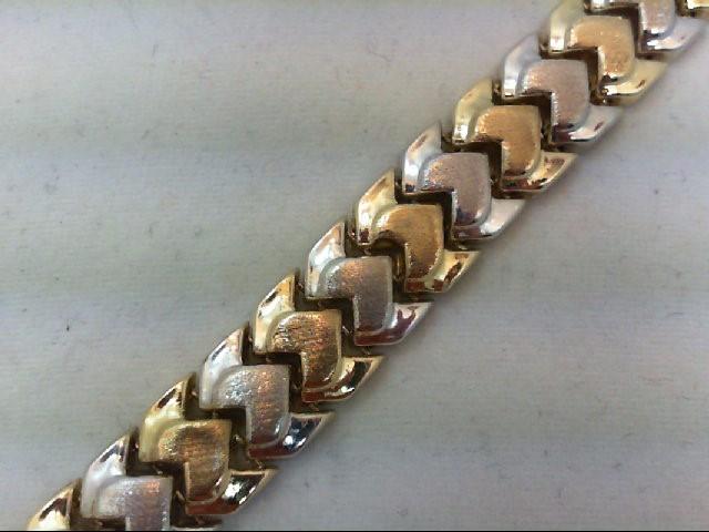 Gold Bracelet 10K 2 Tone Gold 5.2g