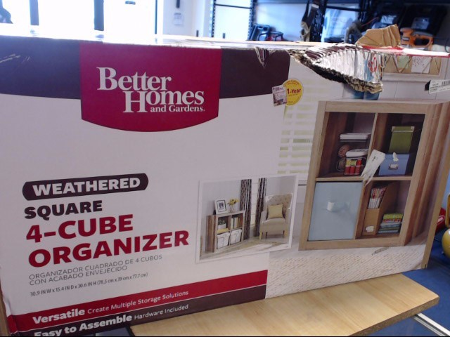 BETTER HOMES AND GARDENS Bookcase 4-CUBE SQ. ORGANIZER BH15
