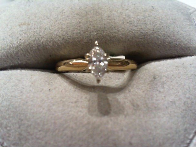 Lady's Diamond Engagement Ring .30 CT. 14K Yellow Gold 1.9g