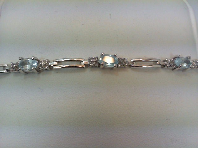 Blue Topaz Silver-Stone Bracelet 925 Silver 8.6g