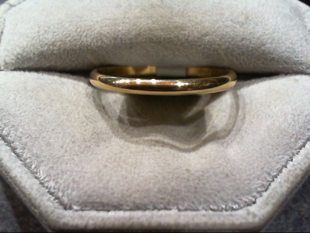 Gent's Gold Wedding Band 14K Yellow Gold 1.8g Size:11