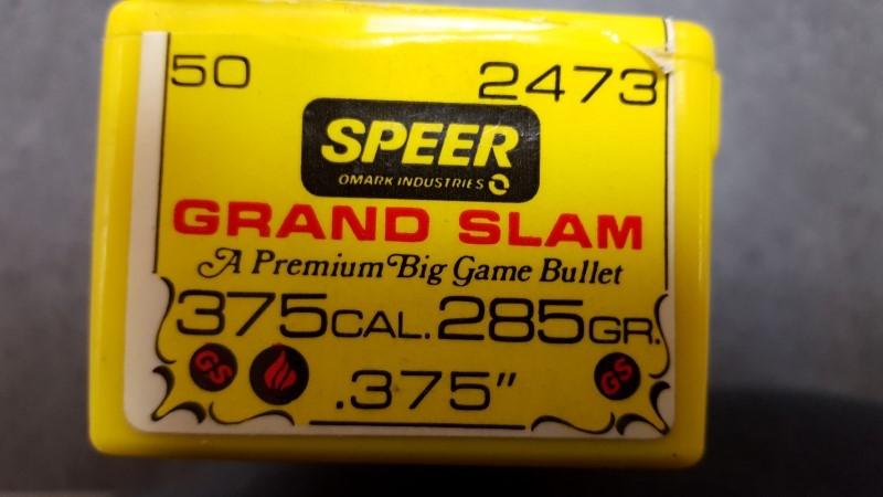 Speer #2473 375 H&H Bullets 285gr - 50qty