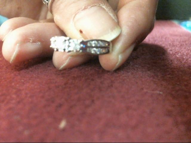 Lady's Gold-Diamond Anniversary Ring 23 Diamonds .40 Carat T.W. 10K White Gold