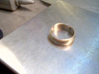 Gent's Gold Wedding Band 14K White Gold 6g