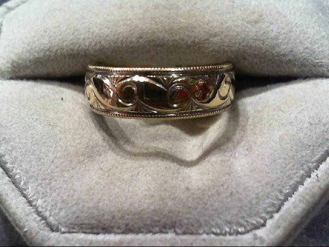 Lady's Gold Wedding Band 10K Yellow Gold 4.1g Size:8.3