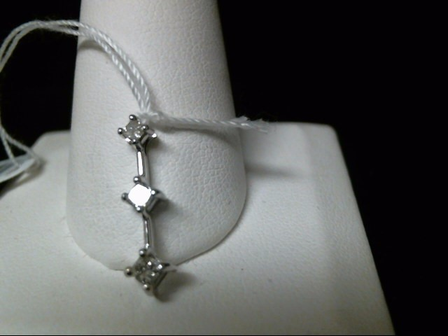 Gold-Multi-Diamond Pendant 3 Diamonds .20 Carat T.W. 14K White Gold 0.9g