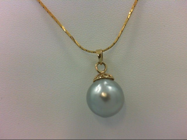 Pearl Gold-Stone Pendant 14K Yellow Gold 4.1g