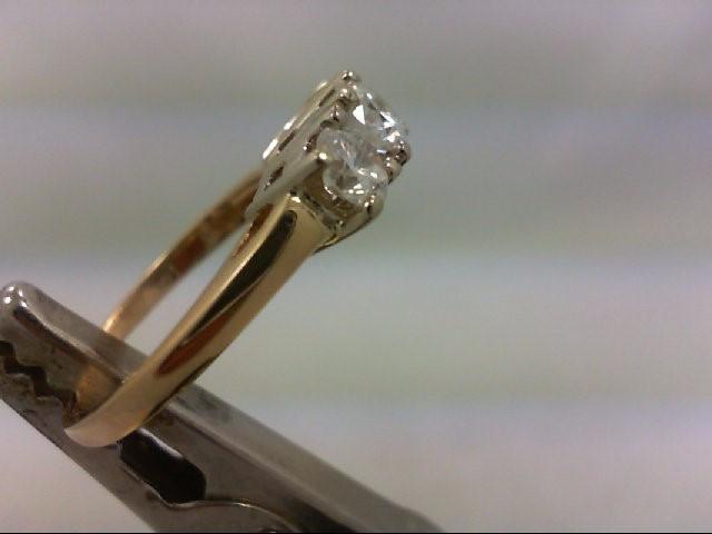 Lady's Diamond Wedding Band 3 Diamonds 1.00 Carat T.W. 14K Yellow Gold 3.07g