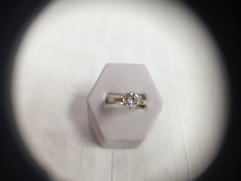 Lady's Diamond Solitaire Ring 1.13 CT. 14K Yellow Gold 2.6g Size:6.8