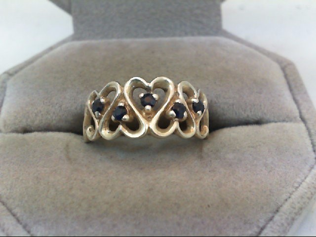 Sapphire Lady's Silver & Stone Ring 925 Silver 8.9g