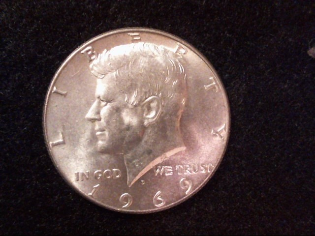 1964-1969 HALF DOLLARS Silver Coin 40% SILVER