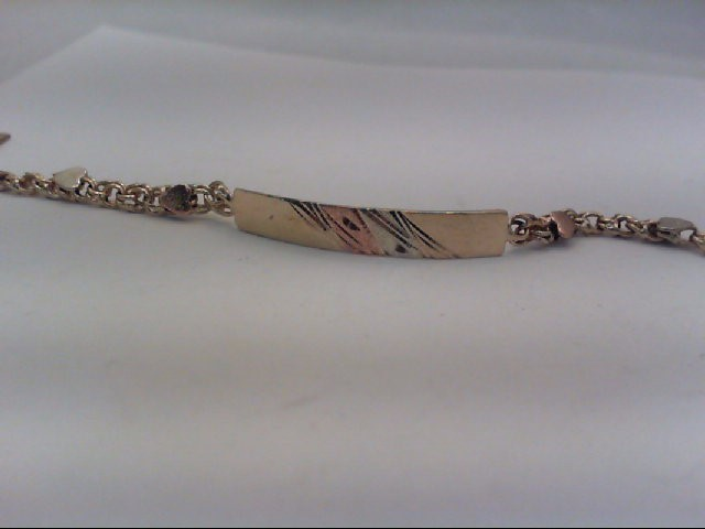Gold Bracelet 10K Tri-color Gold 3.8g