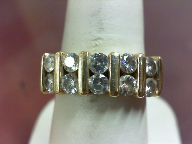 Moissanite Lady's wed band14K Yellow Gold 6.71g Size:6.5