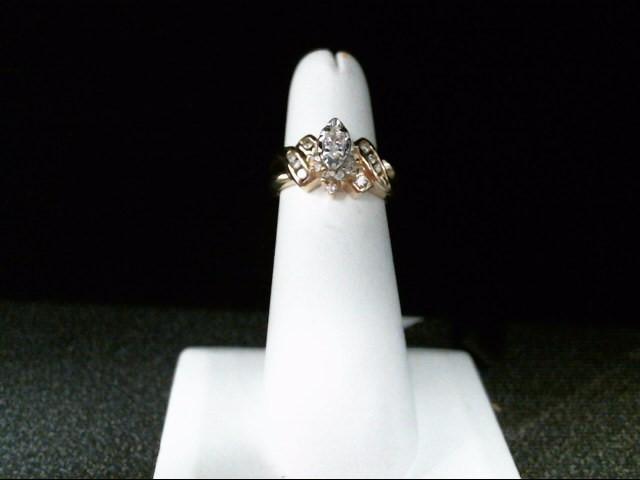 Lady's Diamond Fashion Ring 20 Diamonds .31 Carat T.W. 14K Yellow Gold 6.2g