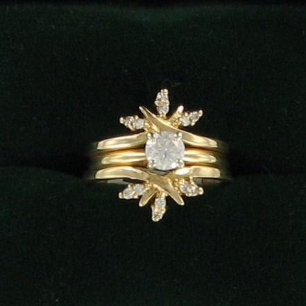 Lady's Diamond Solitaire Ring .40 CT. 14K Yellow Gold 3.6dwt