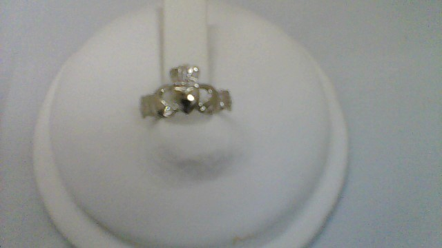 Lady's Gold Ring 14K White Gold 1.4g