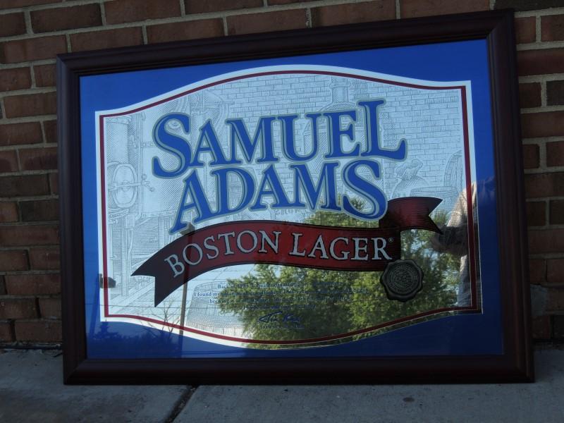 """SAMUEL ADAMS BAR MIRROR - 40"""" WIDE X 28 1/2"""" HIGH"""