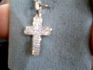 Gold-Multi-Diamond Pendant 23 Diamonds .23 Carat T.W. 14K White Gold 1.7g
