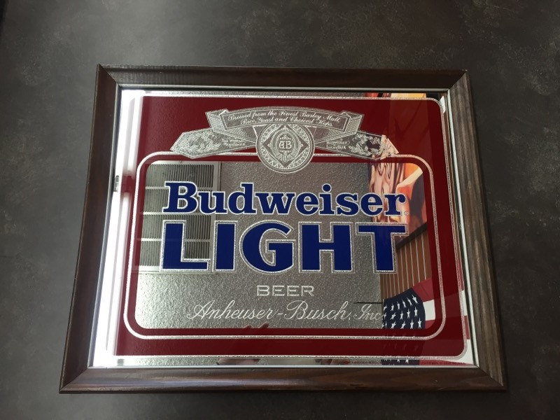 BUDWEISER BUD LIGHT MIRROR