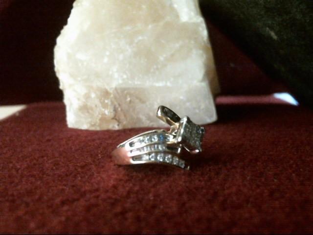 Lady's Diamond Cluster Ring 43 Diamonds .43 Carat T.W. 14K Yellow Gold 3.7dwt