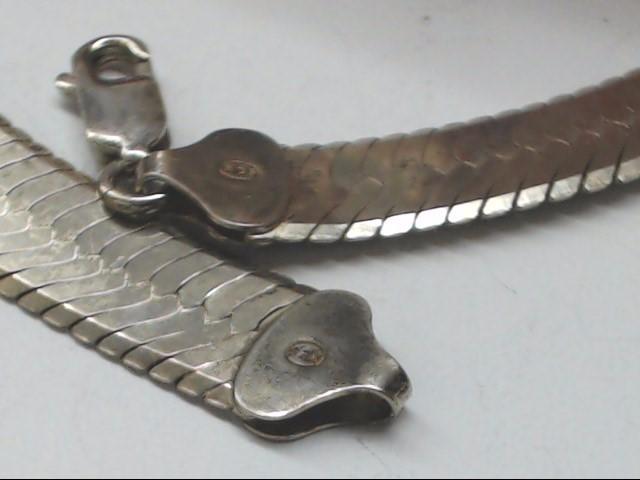 "16"" Silver Herringbone Chain 925 Silver 32g"