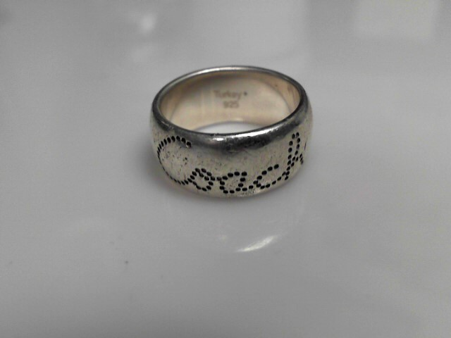 Coach Sterling Silver Band Ring 10.39g Size:8