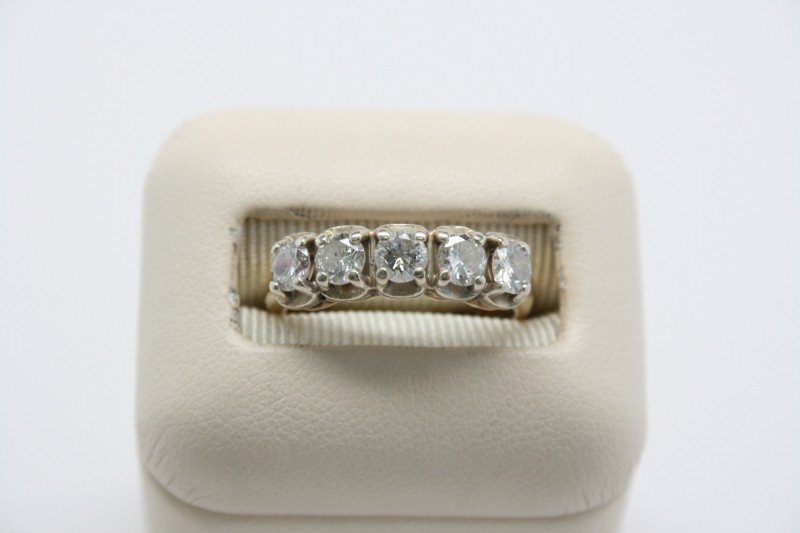 LADY'S ANTIQUE STLYE DIAMOND RING 14K YELLOW