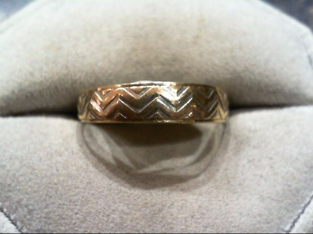 Gent's Gold Wedding Band 10K Yellow Gold 2.3g Size:10