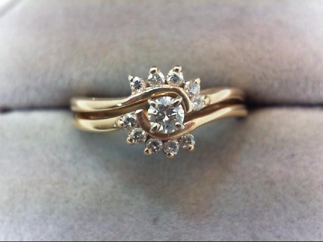 Lady's Diamond Wedding Set 11 Diamonds .20 Carat T.W. 14K Yellow Gold 4g