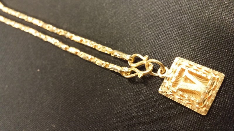 Gold Singapore Chain 22K Yellow Gold 11.4dwt