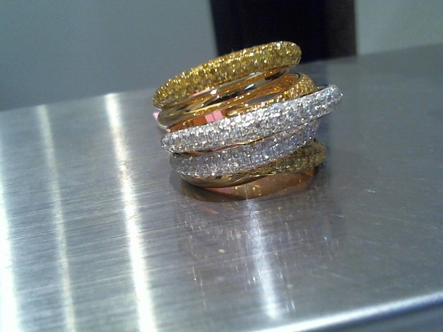 Lady's Gold Ring 18K Yellow Gold 13.1g