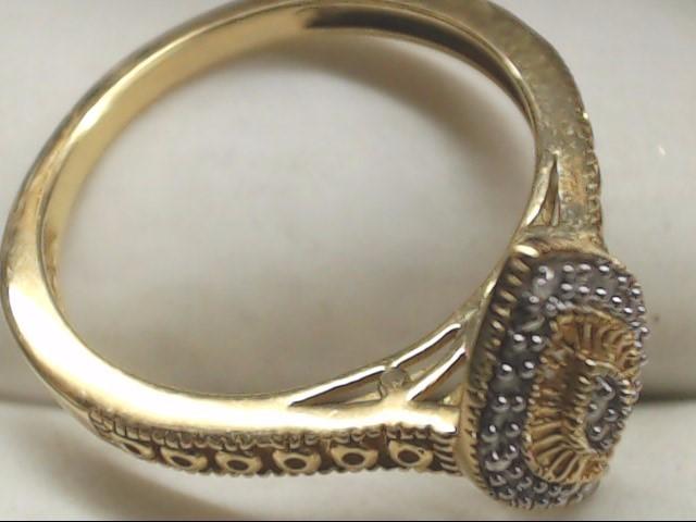 Lady's Diamond Cluster Ring 21 Diamonds .21 Carat T.W. 10K Yellow Gold 2.3g