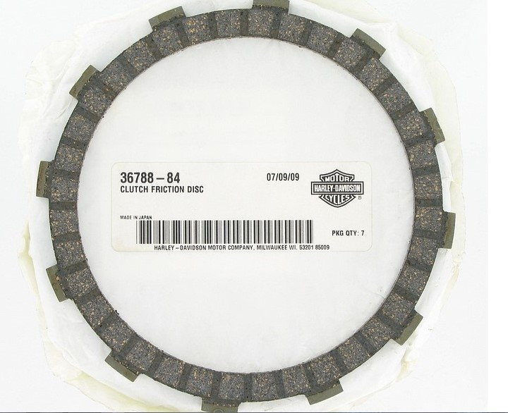 CYCLE-PARTS HARLEY DAVIDSON 36788-84, #36788-84; CLUTCH FRICTION PLATE-FIBER-##E