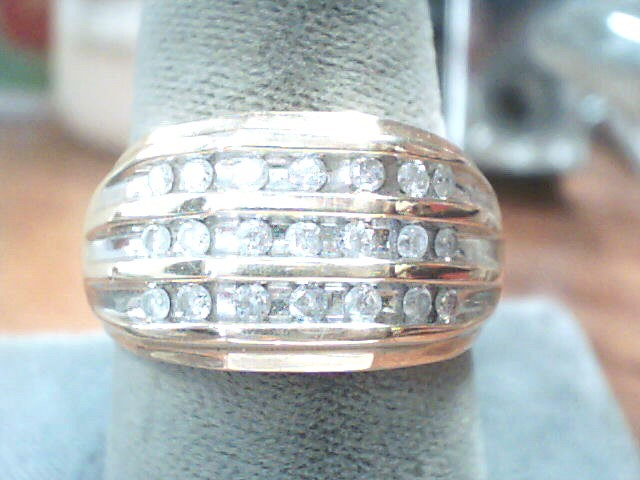 Gent's Diamond Fashion Ring 20 Diamonds .20 Carat T.W. 10K Yellow Gold 3.3dwt