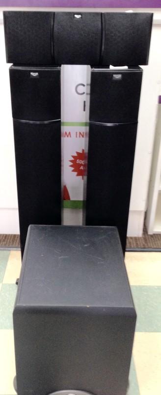KLIPSCH 4 PIECE SURROUND SOUND SPEAKER PACKAGE