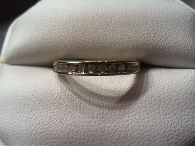 Lady's Diamond Wedding Band 11 Diamonds .33 Carat T.W. 10K White Gold 3.2g