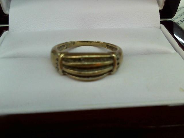 Lady's Diamond Cluster Ring 36 Diamonds .36 Carat T.W. 10K Yellow Gold 2.7g