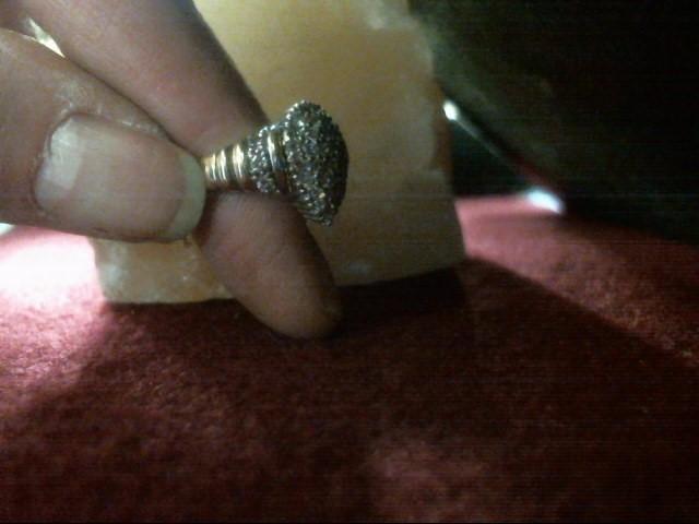 Lady's Diamond Cluster Ring 36 Diamonds .72 Carat T.W. 10K Yellow Gold 2.6dwt