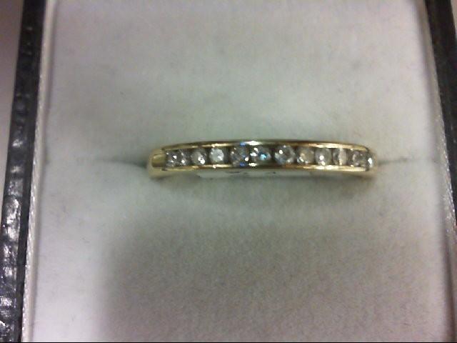 Lady's Diamond Wedding Band 13 Diamonds 0.39 Carat T.W. 14K Yellow Gold 2.4g