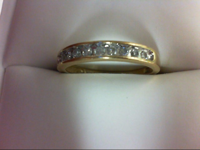 Lady's Diamond Wedding Band 10 Diamonds 0.3 Carat T.W. 10K Yellow Gold 2g
