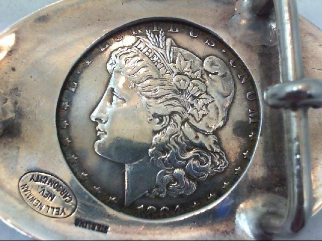 Silver Belt Buckle 925 Silver 50.6g