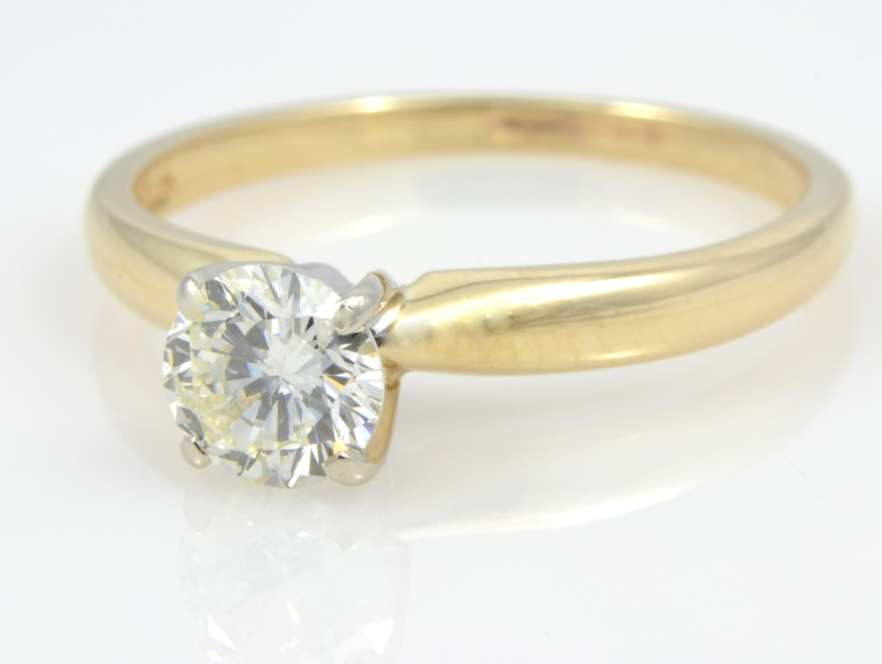 ESTATE DIAMOND RING SOLID 14K GOLD ENGAGEMENT WEDDING FINE SIZE 5.5